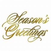 Couture Creations Hot Foil Stamp - Season's Grettings